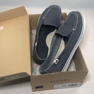 Sperry blue loafers